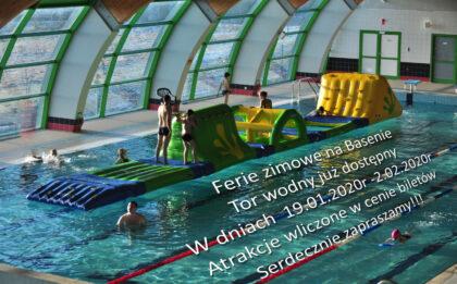 Ferie zimowe na Basenie Tor wodny już dostępny W dniach 19.01.2020r -2.02.2020r Atrakcje wliczone w cenie biletów Serdecznie zapraszamy!!!
