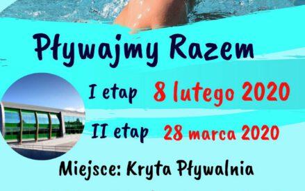 Pływajmy Razem I etap 8 lutego 2020, II etap 28 marca 2020; Miejsce: Kryta Pływalnia Miejskiego Ośrodka Sportu Zatoka; Zgłoszenia: sport@mos.braniewo.pl, sekretariat@mos.braniewo.pl, tel.: 55 644 41 00, https://facebook.com/moszatoka/, osobiście - kasa basenowa
