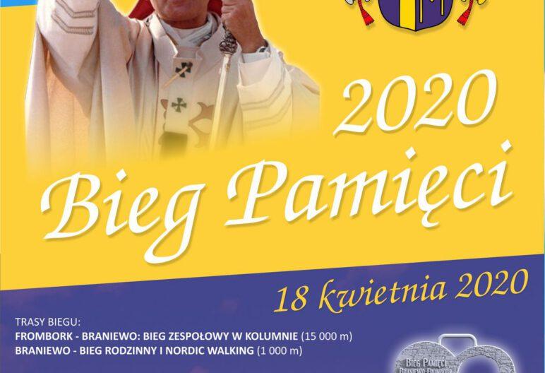 Plakat - Bieg Pamięci 2020, 18 kwietnia 2020 r.