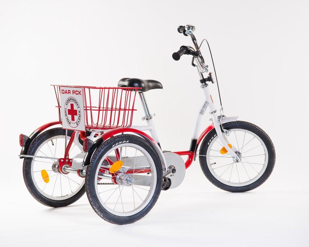 Zdjęcie trzykołowego roweru rehabilitacyjnego
