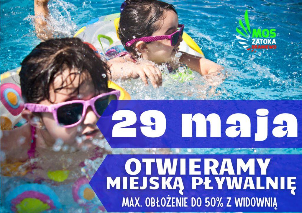 29 maja otwieramy miejską pływalnię, max. obłożenie do 50% z widownią