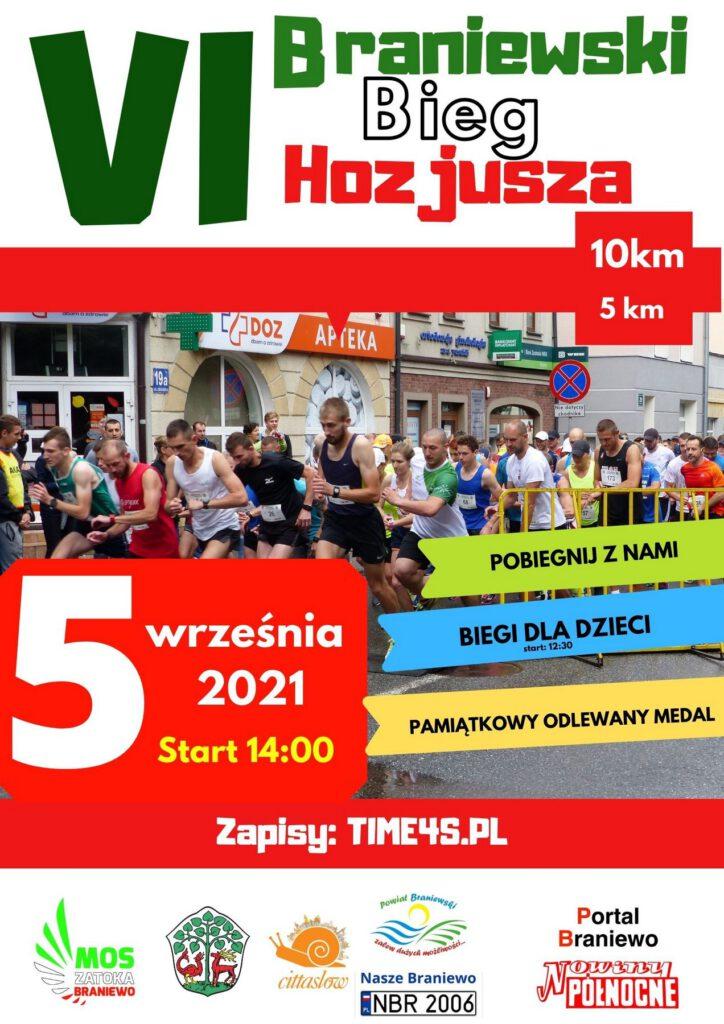 VI Braniewski Bieg Hozjusza, 10km, 5 km, 5 września 2021, start 14:00, Pobiegnij z nami, biegi dla dzieci, pamiątkowy odlewany medal