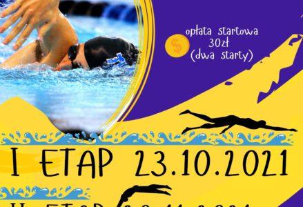 """Plakat """"Pływajmy Razem"""" 1 etap 23.10.2012, 2 etap 20.11.2012, opłata startowa 30 zł ( 2 stary )"""